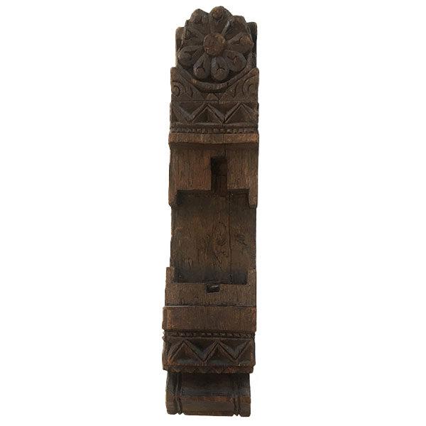 Magnifique colonne ancienne en bois sculpté idéale pour une décoration murale ancienne - eshop de Madame M