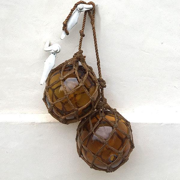 Anciennes flotteurs de filet de pêche, boules en verre pour décoration murale