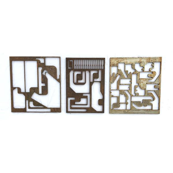 Matrice de pièces mécaniques en acier pour décoration murale