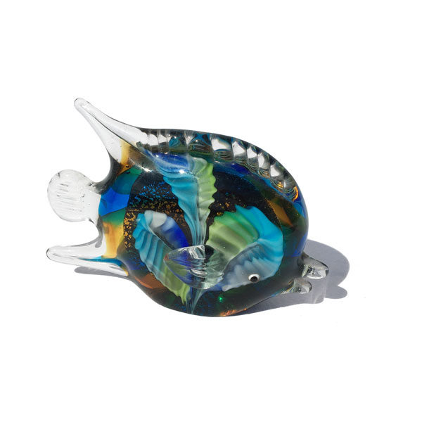 Presse papier poisson en verre de Murano