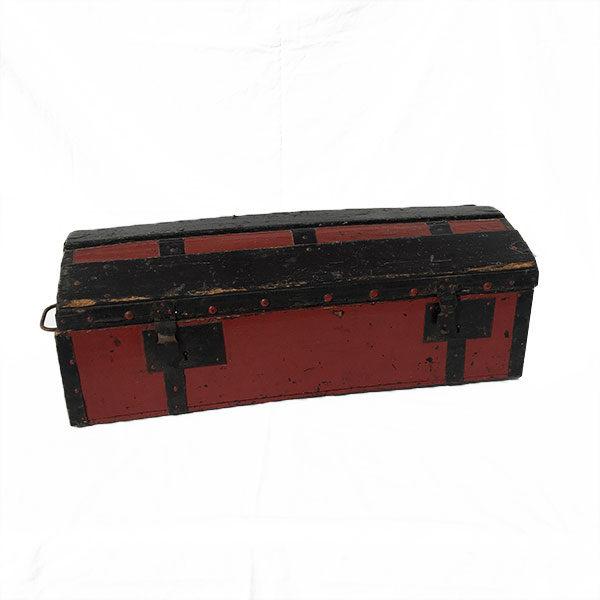 Ancien coffre de rangement en bois vintage - Brocante Eshop de Madame M